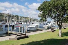Bateaux amarrés à la marina de Whangarei Image libre de droits