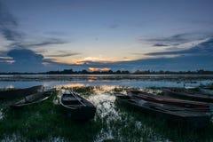 Bateaux amarrés dans la soirée de The Creek photo stock