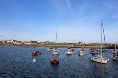 Bateaux ancrés dans le port, Elie, Neuk est, fifre Photo libre de droits