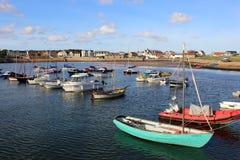 Bateaux ancrés dans le port, Elie, Neuk est, fifre Photos libres de droits