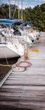 Bateaux au dock Photo stock