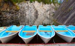 Bateaux au lac Image libre de droits