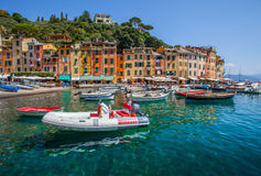 Bateaux au port II de Portofino photographie stock