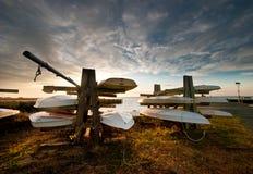 Bateaux aux docks Photos libres de droits