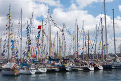 bateaux baltiques de chemins grands Photographie stock