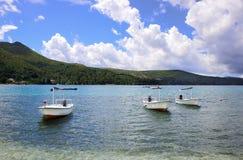 Bateaux blancs Photo libre de droits
