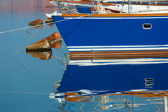 Bateaux bleus Photographie stock