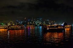Bateaux brillants d'Ève 2015 de Sydney New Year Photos libres de droits
