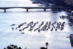 Bateaux chez le Nil Photo stock