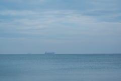 Bateaux-citerne en mer Image libre de droits