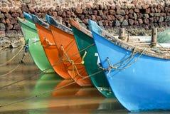 bateaux colorés Photo libre de droits