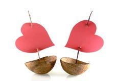 Bateaux d'amour Photo stock