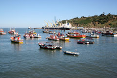 bateaux d'antonio pêchant san Images libres de droits