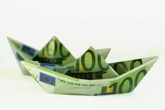 Bateaux d'argent Photographie stock libre de droits