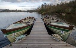 Bateaux d'Eske de lac photos libres de droits