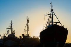 Bateaux d'Essaouira Photo stock
