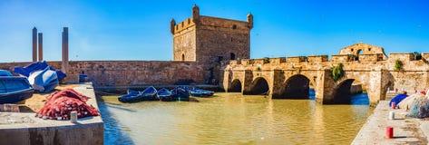 Bateaux d'Essaouira et mer, Marocco photo libre de droits