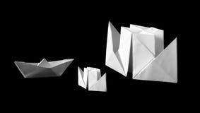 Bateaux d'Origami Photo libre de droits