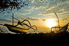 Bateaux dans Bali Photo libre de droits