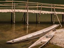 Bateaux dans Konglor photo libre de droits