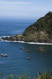 Bateaux dans la baie Image libre de droits