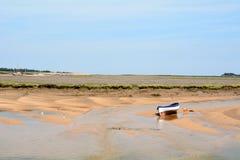 Bateaux dans la flotte est à marée basse Photos libres de droits