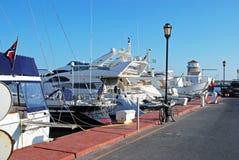 Bateaux dans la marina, Almerimar Photographie stock