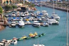 Bateaux dans la ville d'Eilat Image libre de droits