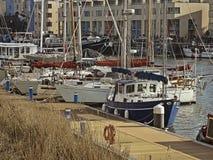 Bateaux dans le harbourside de Bristol Photos libres de droits