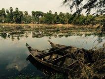 Bateaux dans le lac Photo libre de droits