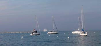 Bateaux dans le lac Michigan Chicago Photographie stock