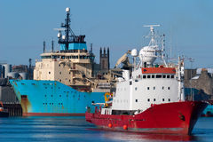 Bateaux dans le port Image libre de droits