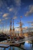 Bateaux dans le port Photo libre de droits