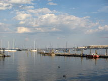 Bateaux dans le port de Boston, Boston, le Massachusetts, Etats-Unis Photo stock