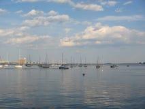 Bateaux dans le port de Boston, Boston, le Massachusetts, Etats-Unis Photos stock