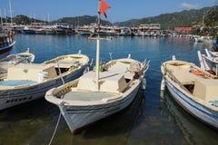Bateaux dans le port de Kekove Photos libres de droits