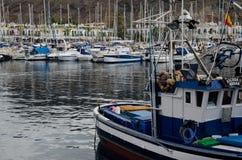 Bateaux dans le port de Mogan photos libres de droits