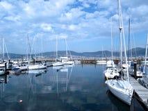 Bateaux dans le port de Vigo, Galicie Image libre de droits