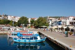 Bateaux dans le port, Grèce photos stock