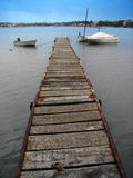 Bateaux dans le quai Photos libres de droits