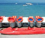 Bateaux de catamaran sur le lac Image libre de droits