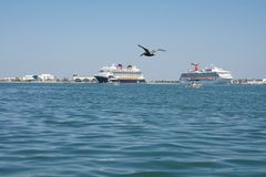 Bateaux de croisière en mer Photo stock