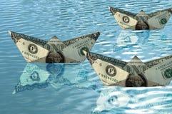 Bateaux de dollar Images stock