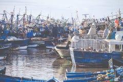Bateaux de Fiishing dans Essaouira, Maroc, Afrique Photo libre de droits
