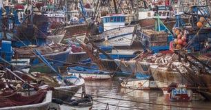 Bateaux de Fiishing dans Essaouira, Maroc, Afrique Image libre de droits