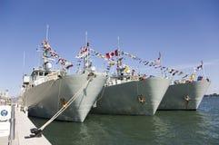 Bateaux de guerre Photos stock