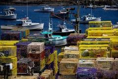 Bateaux de homard dans Maine Images libres de droits