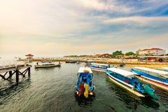Les bateaux dans le port Images stock