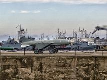 Bateaux de la Marine militaires Photographie stock