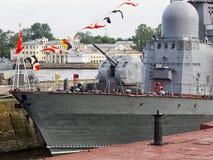 Bateaux de la Marine militaires Photos libres de droits